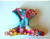 """Sale 50% Off Multi Floral Paisley Comfort Dog Harness """"Joile"""" - Soft on Your Dogs Skin - Available in all Fabrics Listed Under C"""