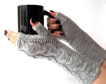 Knit Fingerless Gloves. Knitted Gloves. Long Gloves. Knitted Wrist Warmers. Knit Arm Warmers. Women Gloves. Pick Your Color.