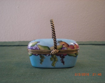 Rochard Limoges fruit basket box