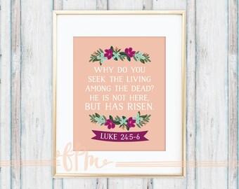 Luke 24:5-6 Print