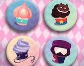 Crystal Cupcakes Button Set