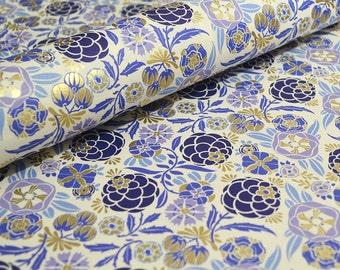 Rossi Fine Italian Paper Liberty Flowers in Blue