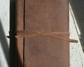 Leather Bound Bible NIV, NLT, KJV  Any Version Distressed Brown Cowhide Pocket Sleeve Custom Order Reserved for Amber (577F)