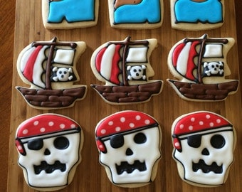 One dozen pirate cookies