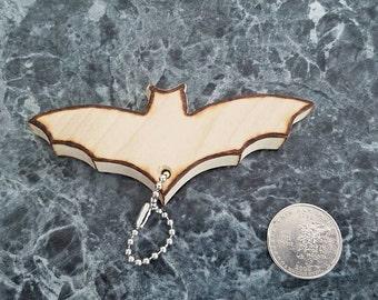 Wooden bat Key Chain