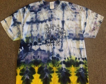 Funky Tie Dye Men's T-shirt size Extra Large S049