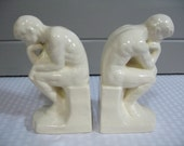 Thinker Bookends, Ceramic Thinker Bookends