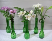 Bud Vases, Green Bud Vases, Spring Decor, Organic, Wedding Tablesetting, Rustic Decor
