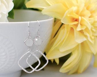 The Sophie Earrings -  Opal/Silver