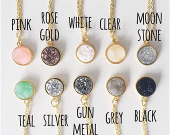choose colour // stone stud necklace