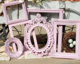 Rustic picture Frames Nursery Gallery Distressed 6 shabby chic Frame Set