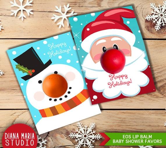 EOS Lip Balm Christmas Gift DIY Card By DianaMariaStudio