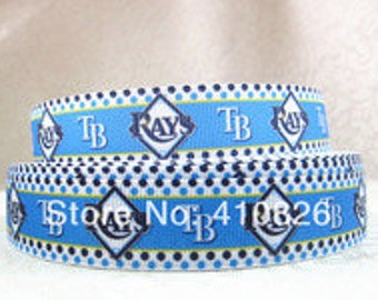 "7/8"" Tampa Bay Rays Ribbon - 3 yards"