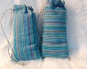 Handmade Drawstring Pouch / Pipe Bag / Padded Pillow Pouch