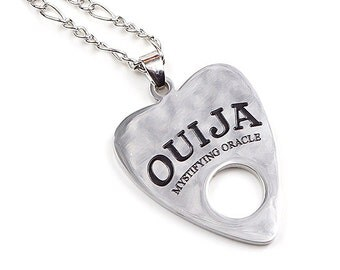 OUIJA PLANCHETTE NECKLACE   occult   witchcraft   mystifying oracle   spiritual   jewelry   pendant   ouija board planchette necklace