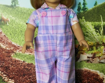 18 inch Doll Overalls and Shirt