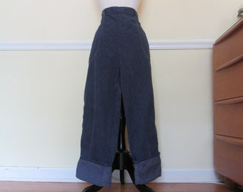 "Rustic Vintage 1940s 40s Indigo Denim Jeans -High Waist-Side Zipper-Waist 31"" 34""- Western-Hillbilly-Rockabilly-Cowgirl-Hot Rod-Motorcycle"