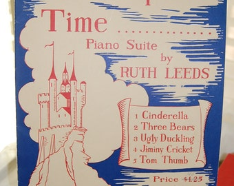 Once Upon a Time, piano quite, sheet music, vintage,