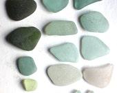 Scottish beach finds sea glass jewelry quality sea foam  green aqua beach jewellery supplies art&craft supply vintage beads necklace (326)