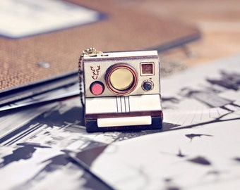 Custom photo Instant Camera necklace