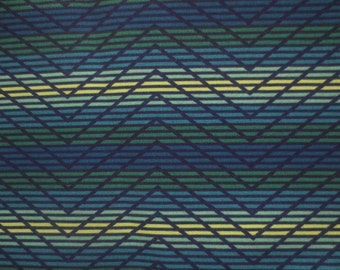 OUTDOOR Pillow Cover in a Blue, Lime Green Zig Zag Print