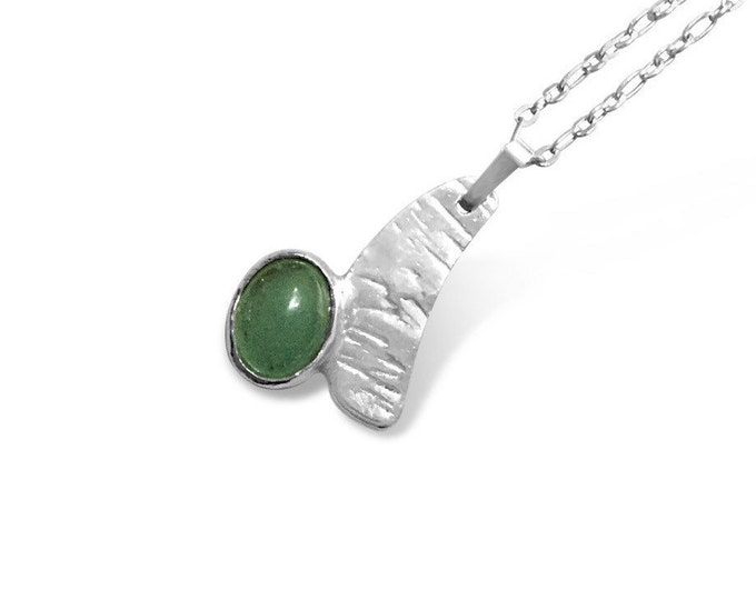 Aventurine and Sterling Silver Pendant