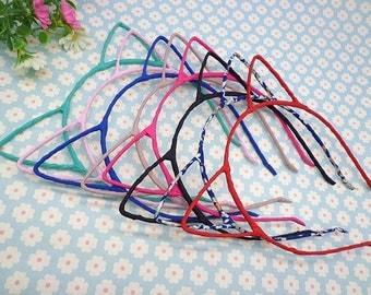 30pcs Headbands - Mixed Colors Cloth Covered Cat Ear Headband 3mm Wide