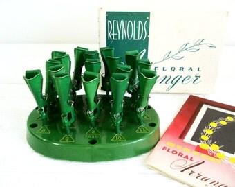 Vintage Floral Frog Reynolds Foral Arranger Flower Frog