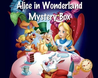 Alice in Wonderland and Through the Looking Glass mystery box with all official items