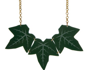 Ivy Leaf Necklace - laser cut acrylic