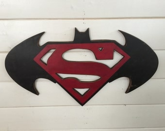 Superman Batman Combo Logo