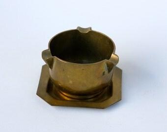 Small Italian brass ashtray