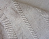 Reserved for Chris: French Vintage, French Linen, Homespun Textiles , Monogram JJ, Sheet ,Nappe Vendage , Tablecloth,  French Country Living