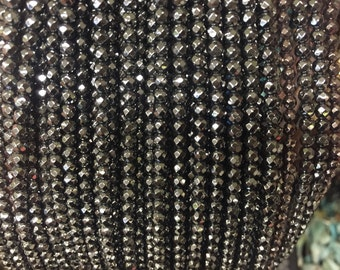 4mm hematite round faceted beads , around 100beads