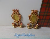 1/12th A large pair of miniature Candle sconces suit castle Goth fairy scenario