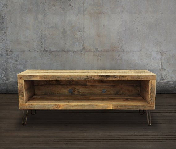 Reclaimed Wood Media Console Tv Stand 48