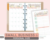Personal Size SMALL BUSINESS Kit - Printable Planner Inserts - Flora Theme - 18 sheets