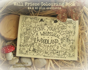 A4 COLOUR YOURSELF A Whimsical Woodland Colouring Book