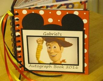Disney Autograph Book TOY STORY WOODY Scrapbook Boy or Girl Keepsake
