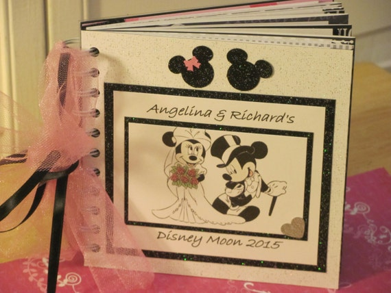 Personalized Disney Wedding Gifts: Disney Wedding Autograph Book Mickey And Minnie Mouse Wedding