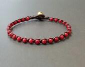 Single  Red Coral Bracelet