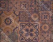 """Cork leather, green product, Portuguese cork fabric,tile Printed pattern 68x50cm / 27.50""""x20"""","""