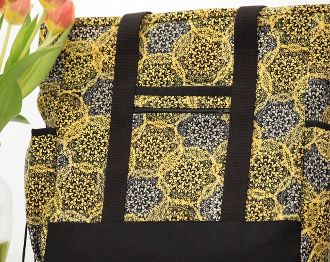 Kitchen Sink Tote - Large Tote Bag with Pockets
