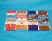 Assorted Vintage Rayon Seam Binding-4 Packages, Soft and Easy & Single Fold, Brown, Navy, Rose, Tan - 3 Yards Each-New in Package - Destash