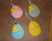 Easter Egg gift tags with Easter chick (4)