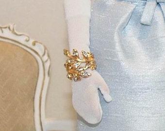 Gold/Silver Rhinestone Bracelet for 12'' and 16'' dolls (I)