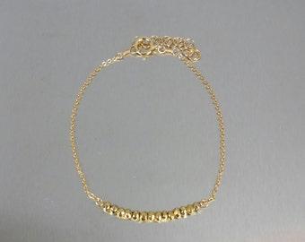 Gold Pyrite Bar Bracelet