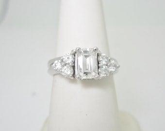 Stunning 14k WHITE Gold 1.25 ctw vvs Brilliant Natural DIAMOND Wedding SET  Size 6 1/4 6.25  r365