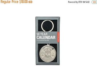 SALE Kikkerland 50 Year Calendar Keychain