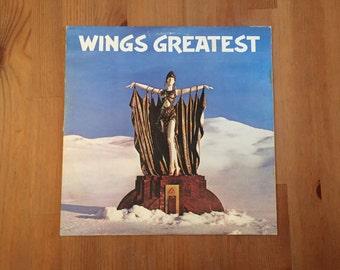 """WINGS Greatest (1978) Vintage Vinyl 12"""" Paul McCartney"""